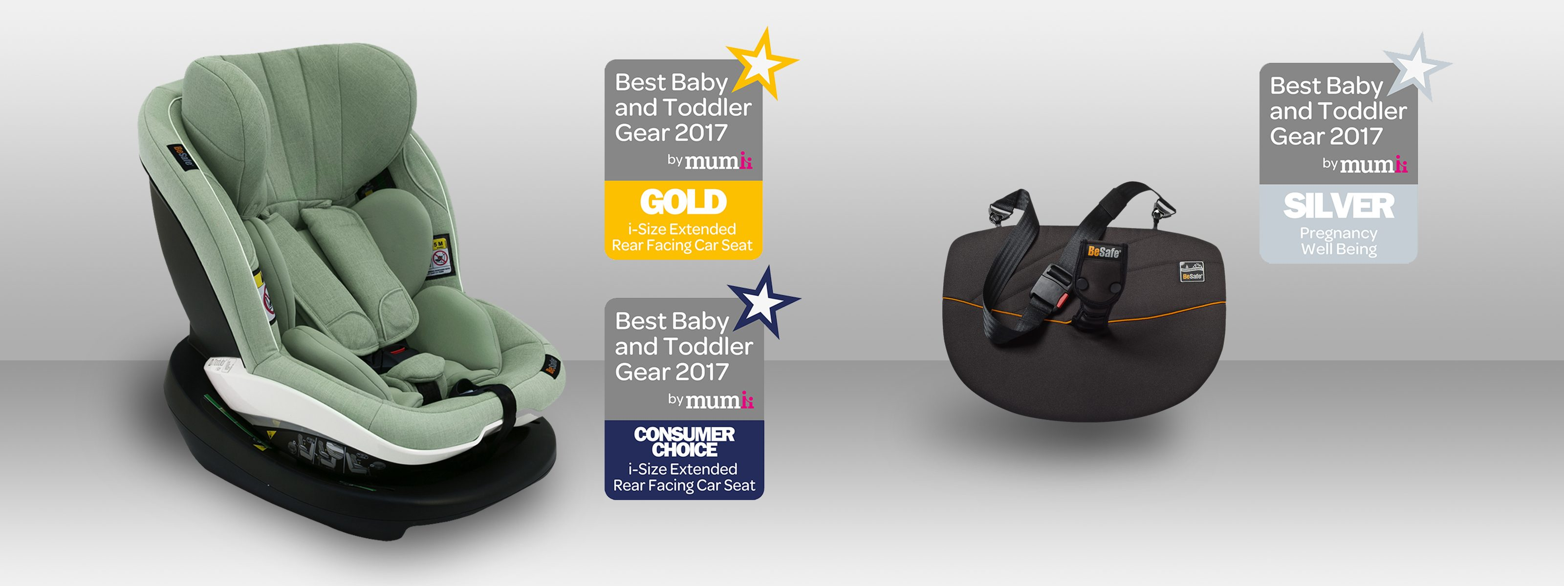 "BeSafe voted as ""Best Car Seat Brand 2018"" by Mumii"